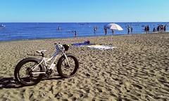 Police bike beach (IVAN 63) Tags: beach playa caorle spieggia spiagggiadiponente