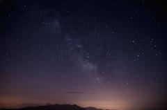 Over the mountains (Pernin) Tags: adventure outdoor landscape night milkyway stars stelle via lattea notte mountains sibillini appennini