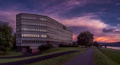 Linz I (zeitfaenger.at) Tags: lila linz danube evening sky panorama hdr olympus omd em1