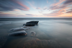 Rocks and water from sydspetsen - 2016 (- David Olsson -) Tags: vrmland sweden takene hammar hammarsydspets lake vnern water smoothwater rocks stones stenar cloudy clouds motion movement sunset sundown solnedgng seascape landscape lakescape nature outdoor shallow le longexposure leefilters bigstopper ndfilter blackglass lenr 06hard gnd grad nikon d800 1635 1635mm 1635vr vr fx davidolsson 2016 juli july summer sommar