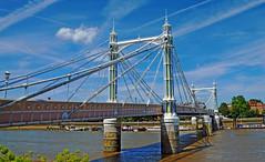 Albert Bridge (UncanD) Tags: summer albertbridge bridge london river thames battersea chelsea sky clouds
