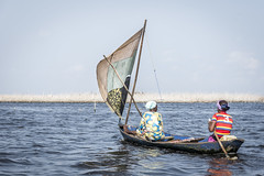 Ganvie, floating village (catherina unger) Tags: ganvie floating fishing boats lake benin africa travel cotonou