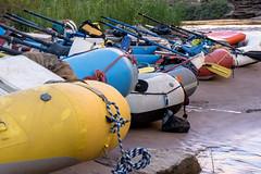 Beached Boats (lukasavige) Tags: aizona aspenbrewingcompany coloradoriver columbia grandcanyon muck or outdoorresearch rain beer boat boots canyon hike hiking hot kayak raft rafting rapid river sun thunderstorm