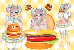 Fuwa Fuwa KumaBurger (SerenitySemple) Tags: secondlife furry fashion barerose kreaokujisawa cubiccherry cubiccherrykreations whimsical gacha mokyu utilizator anime animehead kawaii food doe