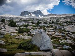 Boulders and Mt. Lyell (deanwampler) Tags: sierras donahuepass anseladamswilderness jmt johnmuirtrail