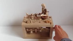Jen, photography and terriers Video (Wanda Sowry) Tags: automata automaton toy mechanism cog cam wood wooden colour movement moving parts natural handle art craft present gift handmade woodwork artist photography photographer dogs terriers flowers butterfly nature woman camera