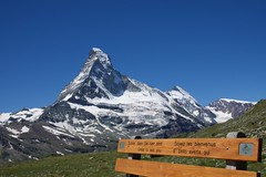 Great to See You! (AGrinberg) Tags: switzerland 1661930 matterhorn mountain bench hhbalmen