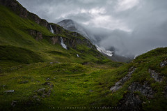 Green Hills (Tim Allendrfer) Tags: green hills alps mountains water waterfall fresh rainy clouds deep mood dark light cloudy meadow austria outdoor flowing landscape panorama stone