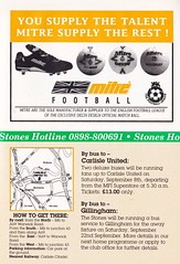 Maidstone United vs Northampton Town - 1990 - Page 19 (The Sky Strikers) Tags: maidstone united northampton town barclays league division four stones official match programme one pound