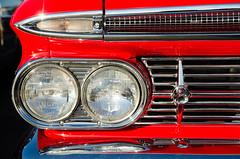 Chrome brow (GmanViz) Tags: gmanviz color car automobile detail goodguysppgnationals nikon d7000 1959 chevrolet headlights grille bumper chrome