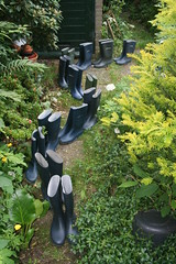 The garden queue (welliesfan1) Tags: regenlaarzen tuinlaarzen rubberlaarzen laarzen dunlopsportlaarzen hevealaarzen vredesteinlaarzen stiefel regenstiefel gummistiefel wellies boots