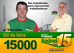 SANTINHO PADRAÌO PMDB (Valdison Ap. Gil, Rolim de Moura RO) Tags: pmdb 15000 rondônia rolim moura valdison gil feira politico vereador