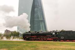 137 (klauseuteneuer) Tags: frankfurt ezb europischezentralbank historischeeisenbahn dampflok