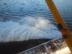 And with that splash, we're safely on Pingo Lake