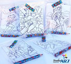 Desenhos para colorir e mini lápis (Studio Ar7) Tags: festa aniversário infantil menina mulhermaravilha colorir kitcolorir maleta maletinha lápis minilápis personalizado studioar7 alinepriscilla nhandeara