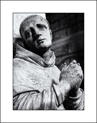 Saint Etienne d'Obazine (Stuart Kingston Photography) Tags: sacred religious icon monk france aubazine statue correze abbey monochrome blackwhite