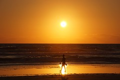 Walking on sunshine (TaranRampersad) Tags: walk beach sunshine sunrise newsmyrnabeach florida