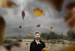 Saved by Nature (lukerenoe) Tags: conceptual portrait portraiture edit 365 self selfportrait fall autumn leaves colors red orange lukerenoe montana mood