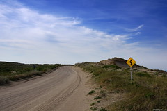 Coastal Road (RP1) (Erik Schepers) Tags: patagonia rio negro argentina sky landscape blue road horizon clouds sand loberia