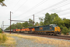 CSXT K142 @ Yardley, PA (Darryl Rule's Photography) Tags: bnsf buckscounty c970 cptl csx csxt catenary clouds cloudy emd eastbound ge k144 local oil oiltrain oiltrains oxfordvalley pa pennsylvania q192 q410 reading readingrailroad septa september stonyhillrd summer tier4 townshiplinerd westbound woodbourne yardley