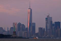 IMG_9765s (michael.soukup) Tags: newyorkcity newyork manhattan skyline sunset cityscape worldtradecenter worldfinancialcenter statueofliberty purple dusk newjersey harbor empirestate nyc