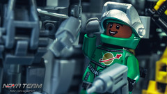 Pleased (Agaethon29) Tags: lego afol legography brickography legophotography minifig minifigs minifigure minifigures toy toyphotography macro cinematic 2016 legospace neoclassicspace spaceman classicspace space scifi sciencefiction ncs novateam customminifigure