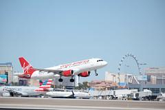 Virgin America Airbus A320-214 (PanzerVor) Tags: virgin america airbus a320214 a320 airplane mccarran airport las vegas nevada flight