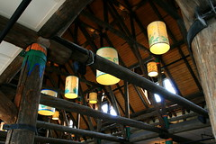 Lamps and Beams (RPahre) Tags: architecture paradise mountrainier mountrainiernationalpark lamps beams paradiseinn woodbeams