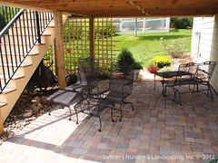 Paver Patio under Deck with Retaining Wall & Steps - Minnesota Landscaping Ideas (Switzer's Nursery & Landscaping) Tags: minnesota wall landscape design landscaping glenn patio block base northfield interlocking paver pavers retainingwall switzers switzer landscapedesign designbuild hardscape subbase hardscaping landscapedesigner underdeck glennswitzer icpi mnla patiodesign keystonecountrymanor apld switzersnursery landscapedesigns theartoflandscapedesign switzersnurserylandscaping artoflandscapedesign minnesotanurserylandscapeassociation interlockingconcretepavementinstitute assoicaationofprofessionallandscapedesigners anchorpavingstones