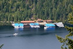 Blue Diamond Marina from Cougar Rock Photo