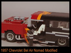 Chevrolet 1957 Bel Air Nomad Custom (lego911) Tags: auto usa classic chevrolet hardtop belair car america wagon model lego chevy chrome 1957 modified nomad custom challenge v8 fins lugnuts 57th chev moc miniland lego911 frommildtowild