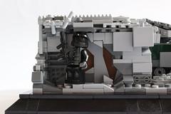 Fallout Zone DARKWATER (✠Andreas) Tags: tank post lego military diorama apoc legotank leopard3 camotank legopostapoc leopardmbt postapocdiorama legombt legoleopard3 eumainbattletank eulegotank legoleopardtank thepurgetank legocamotank