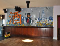 Lord of the Concrete Jungle (id-iom) Tags: england urban london art beer electric skyline bar club graffiti stencil paint tiger bigben social spray kanji vandalism brixton tigress concretejungle idiom