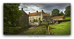 Hawnby - Post Office & Tearoom (YorkshireSam) Tags: trees summer england sunlight clouds landscape evening countryside nikon scenery village yorkshire north postoffice helmsley cottages northyorkshiremoors northeastofengland hawnby samsalt