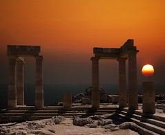 300 B.C. (explore #74) (kenny barker) Tags: sunset lumix greece rhodes lindos dorictemple impressedbeauty stealingshadows daarklands daarklandsexcellence panasoniclumixgf1 kennybarker welcomegreece