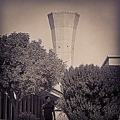 #kfupm #tower #dhahran #HDR #B_&_W #_ #_ # (WelloJ) Tags: square squareformat sutro iphoneography instagramapp uploaded:by=instagram