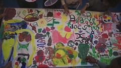 schilderen met marcel pinas (maartje jaquet) Tags: painting children video utrecht kinderen workshop schrift schilderen overvecht 412 uck syllabary oneminute marcelpinas afaka afakaschrift