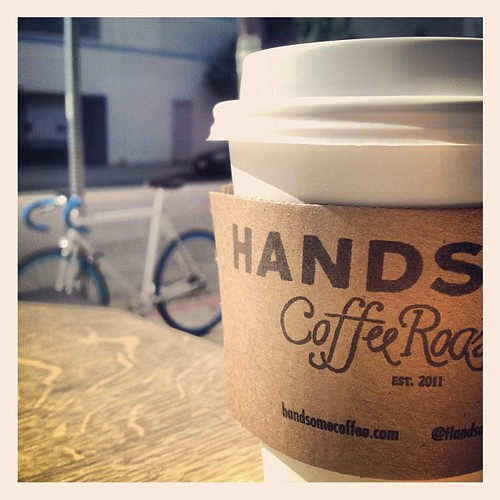 Hot LA day. Hot LA coffee. #handsome