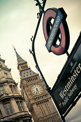 Westminster station (Jordan | Photo) Tags: uk london clock westminster station underground subway lumix metro unitedkingdom bigben panasonic jordan londres estacion reloj reinounido gx1