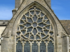 The south transept rose window (14th C.), the Church of the Holy Trinity, Minchinhampton, Gloucestershire, England (Hunky Punk) Tags: uk windows england rose architecture gothic churches cotswolds medieval gloucestershire holytrinity decorated tracery listedbuilding englishheritage gradei minchinhampton