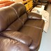 Leather two seater couch