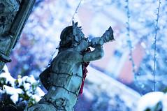 Winter Fountain (Bernie Kasper) Tags: christmas blue winter snow art fountain statue architecture broadway historic neptune madisonindiana berniekasper curatorsset