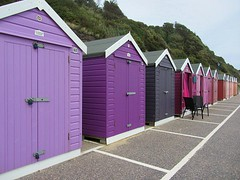 Purple and pink beach huts (Katie-Rose) Tags: uk pink grey seaside purple dorset seafront bournemouth beachhuts katierose canonpowershotsx230hs sunrisetosunsetbeachhuts