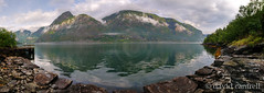 Pier at Ben Panoramic (dmcantrell) Tags: water norway pier nikon stitch panoramic fjord hdr 1755 d300 sognefjorden ben 1755afsdxzoomnikkor1755mmf28gifed 201107022120panoc11000