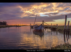 Ribeira do Gago - Ria de Aveiro (Paulo_Veiga) Tags: trees sunset sky storm reflection portugal nature water colors silhouette água night clouds composition canon reflections river contraluz lens relax landscape boats photography eos golden boat photo fishing europe flickr tramonto barco foto barcos natural tag natureza picture calming silhouettes stormy calm pôrdosol serenity reflejo rays fotografia fishingboat geotag reflexos ria stakes ribeira refections veiga 2012 aveiro árvores narure silhuetas 18200mm riverscape reflectionsonwater riadeaveiro murtosa silhouetten 550d t2i pauloveiga lens18200mm ilustrarportugal portografia canon550d rebelt2i ribeiradogago