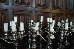 candles in the buttery (1 of 3) (cuttlefish) Tags: england oxford magdalencollege buttery candelabras disgruntleddons theywerentintometakingpicturesoverporridge