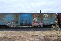 (huntingtherare) Tags: train bench graffiti cafe much boxcar freight rollingstock halite benching diamondcrystal prospick