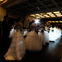 Swans (E Pulejo) Tags: girls contrast hall dancing line event dresses debutante whitedress debutanteball