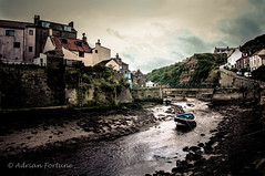 Explored - Boat and Hill - Staithes (Iamamanc) Tags: bridge river village yorkshire hill riverbed bloody northyorkshire staithes staithe rowingboat yorkshirecoast hill2 tamron1750mmf28 magicunicornverybest magicunicornmasterpiece adrianfortune