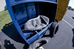 Compactyre smashes tires! (recycleharmony) Tags: recycling wastemanagement oldtires recyclingequipment recyclingmachine harmonyenterprises recyclingcompany recycletires compactyre compresstire tireupcycle